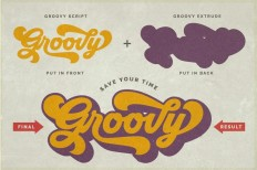 Groovy - Retro Font on Inspirationde