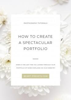 HOW TO CREATE A SPECTACULAR PORTFOLIO on Inspirationde