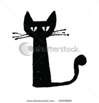 stock-vector-black-cat-drawing-44908984.jpg (450×470)