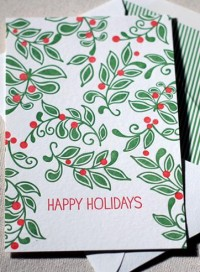 Mistletoe boxed letterpress flat cards | Smock | eco stationery