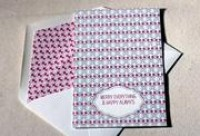 Peppermint boxed letterpress folded cards   Smock   eco stationery
