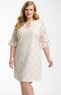 Adrianna Papell Lantern Sleeve Lace Dress (Plus) | Nordstrom