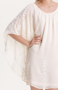 Free People Embroidered Chiffon Cape Dress | Nordstrom