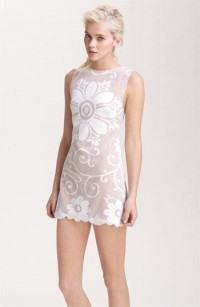 Free People Lace Medallion Sleeveless Shift Dress | Nordstrom