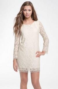 Velvet Torch Long Sleeve Lace Dress (Juniors) | Nordstrom