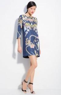 Tibi Collage Print Silk Shift Dress | Nordstrom