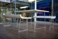 Table And Chair Garden O-Lithas Furniture Collection Designs by Efrain E. Velez - HomeDesignCorner.com