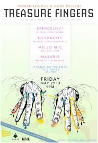 DJ Treasure Fingers @ Nomad Lounge - Posters - Creattica