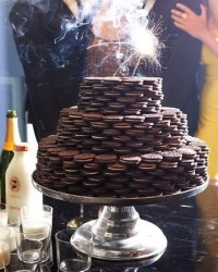 cake, champagne, milk, new years, oreo - inspiring picture on Favim.com