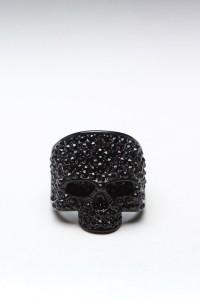JackThreads - Skull Ring Black