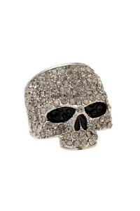JackThreads - Skull Ring Silver