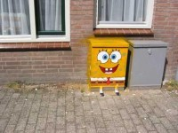 Sponge Bob Street Art from Bitches In Control | Wooster Collective
