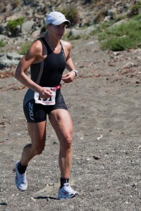 Amity Hall running in the Inaugural Morro Bay Triathlon 06 June 2010, swim, bike, beach run. | Flickr - Photo Sharing!