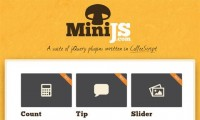 A Suite Of jQuery Plugins (Built With CoffeeScript) – MiniJs
