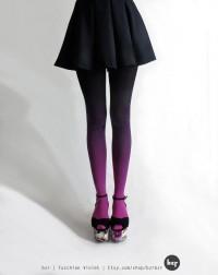 BZR Ombré tights in Fuschian Violet par BZRshop sur Etsy