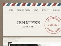 Designspiration — Dribbble - Air Mail Wedding Invite by Dave Ruiz