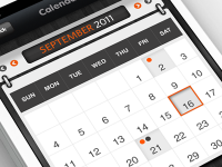 iPhone App - Calendar by Anke Mackenthun