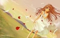 wind,beautiful,Anime Girl,cute girl,hair,afternoon A girl in the wind Wallpaper_1920x1200 – Angels Wallpaper – Free Desktop Wallpaper