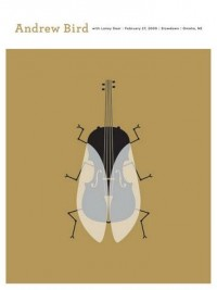 Andrew Bird Concert Poster by The Small Stakes (SOLD OUT) - Sold Out - Gallery