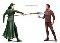 The Avengers - Loki x Tony Stark by =VadeG