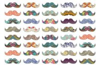 Mustache Mania Art Print by Bianca Green | Society6