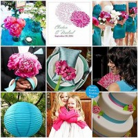 Things Festive Wedding Blog: Fuchsia and Teal Wedding Color Palette