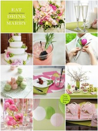 Things Festive Wedding Blog: Pink and Green Wedding Color Palette