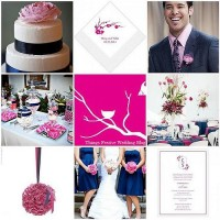 Things Festive Wedding Blog: Pink and Navy Wedding Color Palette