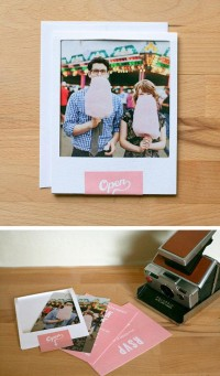 Polaroid style invitation in Inspiration and ideas for wedding prints