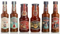 Creative Review - Steve Simpson's illustrated chilli sauce bottles