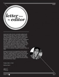 PARADOX magazine. letter from the editor | Flickr - Photo Sharing!