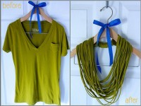 >Project ReStyle: Easy No-Sew T-Shirt Necklace « A Pretty Penny