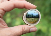 Tiny Needle Felted Landscape Brooches From Lil Fish Studios @Craftzine.com blog