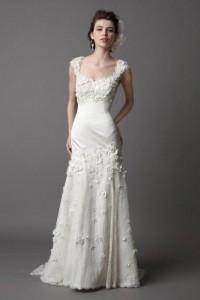 Pretty sleeveless trumpet / mermaid floor-length wedding dress style 0bg01050 - $541| weddingdressbee.com
