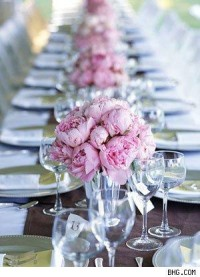 Flower arrangements in pink and brown - AisleDash
