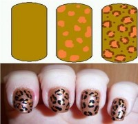Leopard Print Nail Art Designs Step by Step How to Guide
