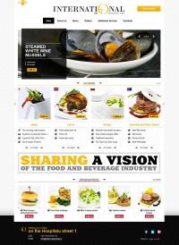 International restaurant on Web Design Served