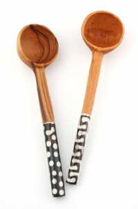 Batik Olivewood Patterned Coffee Scoop   LEIF