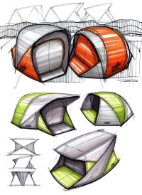 Tent sketches by mike serafin at Coroflot