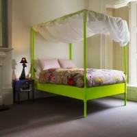 Neon Love / Zingy bedroom | Modern bedroom idea | housetohome.co.uk