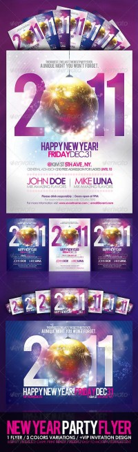 Print Templates - Happy New Year Party Flyer | GraphicRiver