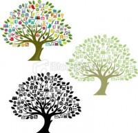 Big digital tree | Stock Illustration | iStock