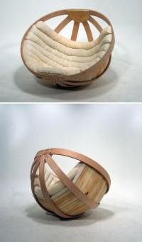 Cradle Chair: Big Basket Seat Rocks Adults Gently to Sleep | Designs & Ideas on Dornob