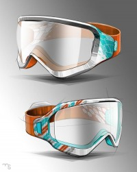 Goggle sketch color studies by mike serafin at Coroflot