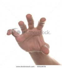 Well Shaped Men Hand Reaching For Something Isolated On White Stock Photo 55519978 : Shutterstock