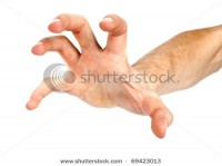 Human Hand Take Over On White White Background Stock Photo 69423013 : Shutterstock