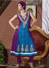 Classic Embroiderd Salwar Kameez With Anarkali Style - Salwar Kameez - Women