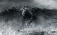 black and white dragons monsters fantasy art grayscale artwork drawings - Wallpaper (#1962822) / Wallbase.cc