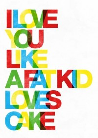 Typography poster typography art print love quote by handz
