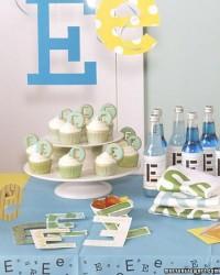 1st Birthday Party Ideas / Party Theme: Initial - Martha Stewart Entertaining